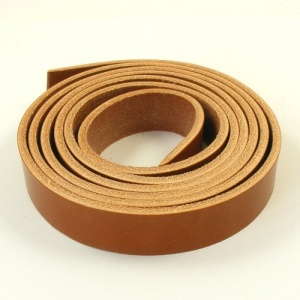 Mid Tan 4mm Saddlery Leather Strips
